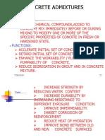 Concret Admixtures