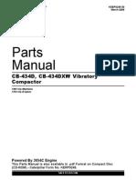Parts Manual Cb 434d