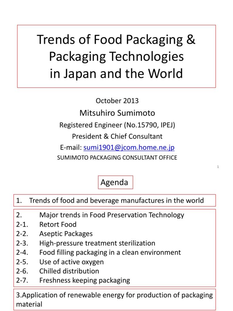 02 Trends of Food Packaging & Packaging Technologies in