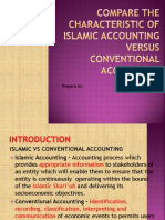 Compare the Characteristic of Islamic Accounting Versus Conventional