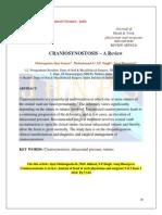 CRANIOSYNOSTOSIS – A Review