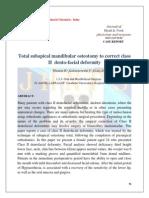 Total subapical mandibular osteotomy to correct class II dento-facial deformity
