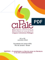 Cifale-simposio-O Melodrama e a Fala Do Corpo Na Literatura e Na Arte Contemporâneas
