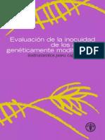 Evaluacion de La Inocuidad de Los Alimentos GM