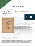 La Geometría No Euclidiana y La Geometría de n Dimensiones _ EFERVESCENTE2H