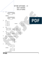 NTSE Solutions of 2012 MAT Paper