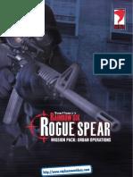 Rainbow Six - Rogue Spear - Urban Operations - UK Manual - PC