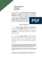 Ref. Reglamento de Administración (Migrantes)