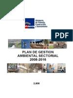 Plan de Gestion Ambiental 2008-2016. Version Final.