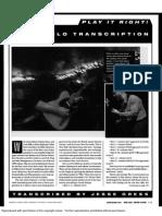 Play Mike Stern- Scofield Solo Transcription (Jazz Guitar)
