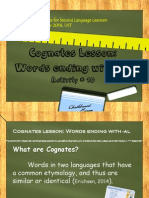 activity 10 cognates lesson powerpoint