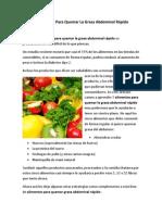 5 Alimentos Para Quemar La Grasa Abdominal Rápido