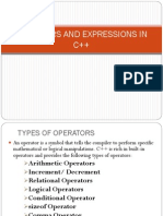 OPERATORS AND EXPRESSIONS IN C++