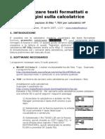 Visualizzare Testi Formattati e Immagini Sulla Calcolatrice - Matsoftware.it