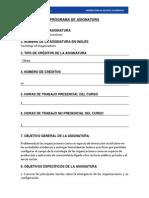 Programa Sociologia de Las Organizaciones 2014 Martinez
