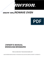 Emerson MW8992SB Microwave Owner's Manual