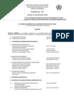 Acuerdo No. 016 Del 26 de Mayo de 2014 - Calendario Académico 2014-2