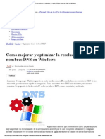 Como Mejorar y Optimizar La Resolución de Nombres DNS en Windows