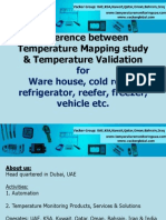 Diffference Between Temperature Mapping Study and Validation