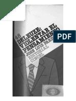PARDO - Deleuze, Violentar El Pensamiento