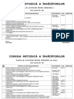 Plan de Activitate Comisie Metodica 2012-2013