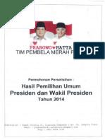 Permohonan PHPU Prabowo Hatta Perbaikan