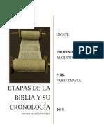 Orden Cronológico de La Biblia