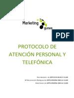 Protocolo de Atencion Personal y Telefonica