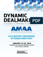 2014 AMAA Winter Conference Member Directory
