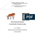 Static Fixturing and Testing of Torsional Shafts in Combined Loading