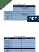 Control Sheet Sponsorship