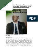 SNM Executive Committee Memorandum