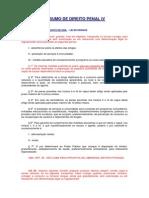 Resumo de Direito Penal IV