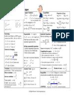 Formula Sheet Algebra 2 Trig