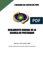 Reglamento de Escuela de Postgrado Uncp