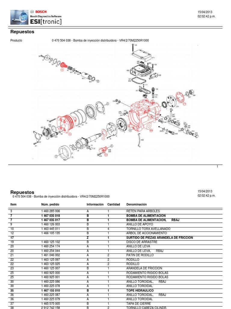 Despiece Bomba Vp44 Nissan Frontier