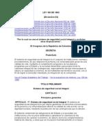 LEY 100 de 1993 Sistema de Seguridad Social Integral