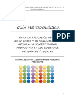 Guía Metodológica - Ley Nº 29337