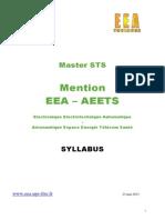 Syllabus Master EEA