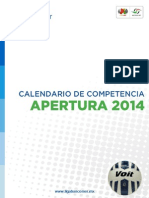 Calendario de Apertura 2014