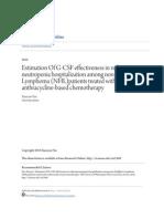 Estimation of Gcsf Effectivness in Neutropenia
