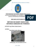 MÉTODO DE HARDY CROSS PARA SISTEMAS CERRADOS DE TUBERÍAS 2013.docx