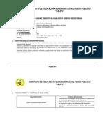 III Ciclo Silabo Analisis Diseño Sistemas 2014