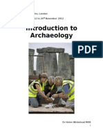 Introduction to archaeology plan list