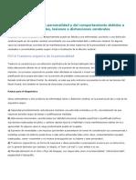 F07 Trastornos de La Personalidad y Del Comportamiento Debidos a Enfermedades