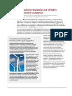 6 Principles for Building Cost-Effective Wind Turbine Generators