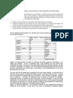 Informe Técnico Sobre La Elección de Una Carrera Universitaria