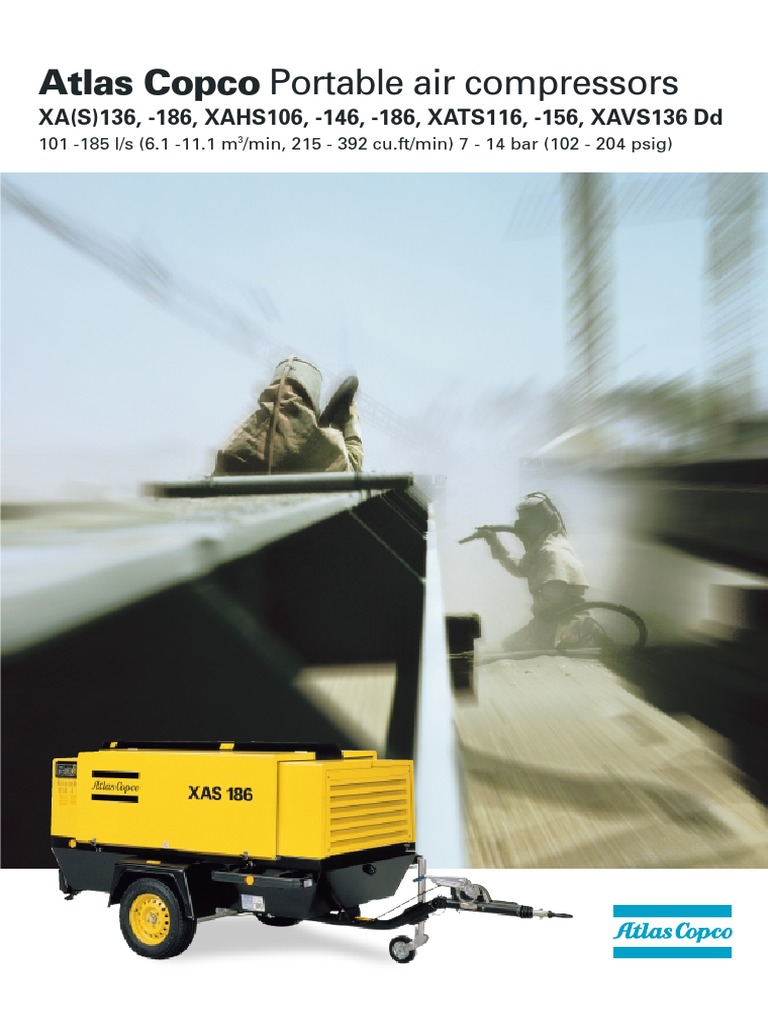 xas 186 126 106 116 136 156 146 turbocharger mechanical engineering rh es scribd com Atlas Copco Ga37vsd Manual Atlas Copco Ga37vsd Manual