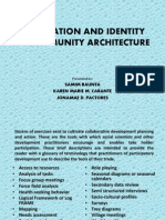 Orientation and Identity of community architecture