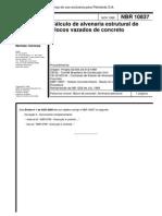 NBR10837 1989 Cálculo de Alvenaria Estrutural de Blocos Vazados de Concreto